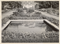 Image of Linnean Garden looking east.  Before 1950.