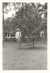 Image of Dr. George Moore in garden.  Negative available at PHO 2007-0383.