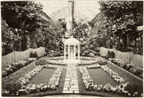 Image of Bulb Show, 1934.  Floral Display House.  Mounted with PHO 2007-0961.  Same as PHO 2007-0969.