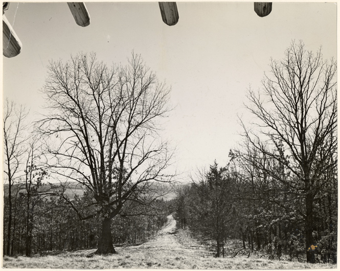 Image of View looking south from Trail House.  Bulletin Jan. 1944.