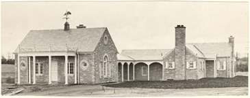 Image of Visitor's Center, erected 1936.  Mounted with PHO 2007-1593 and PHO 2007-1594.  Bulletin Vol. 25, 1937..