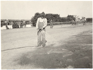 Image of Garden staff planting bent grass.  Bulletin Vol. 16.  Mounted with PHO 2007-1766, PHO 2007-1768, and PHO 2007-1769.
