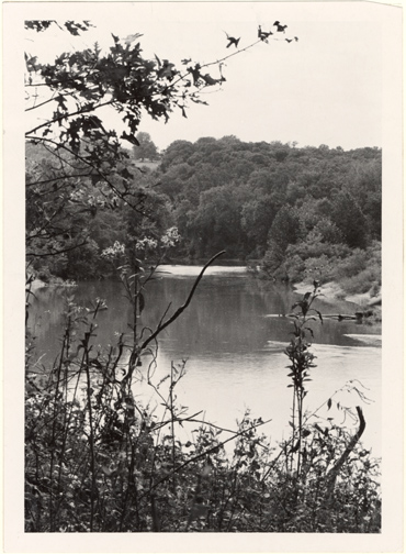 Image of This view across the Meramec River tooks toward the newly acquired Morton property from the farm side of the Arboretum.  Bulletin, Jan-Feb. 19872, p. 29.