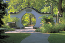 Image of View of entrance to Chinese Garden.
