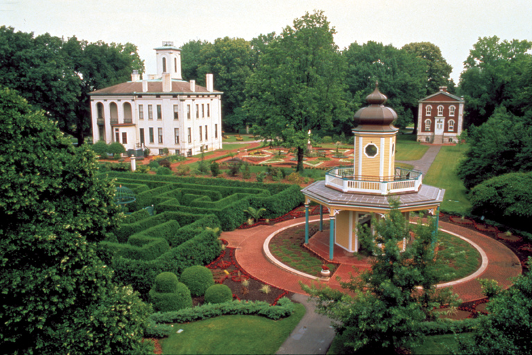 Image of View of Victorian area at the Missouri Botanical Garden.