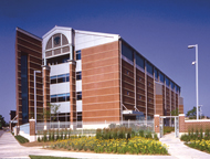 Image of Exterior view of the Monsanto Research Center.