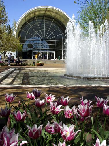 Image of Ridgway Center showing Spoehrer Plaza.