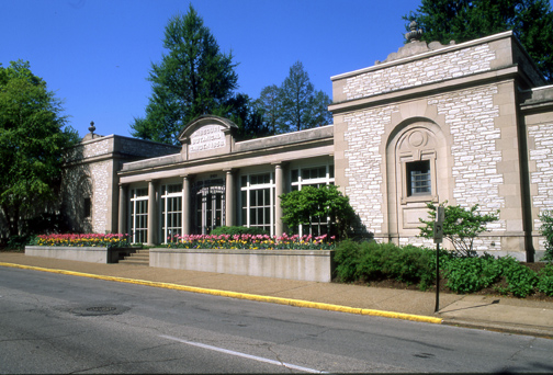 Image of Spink Pavillion view from Tower Grove Avenue.