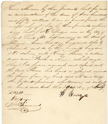 Image of Bill of sale for purchase of male enslaved person, Peach, by Henry Shaw in 1828.