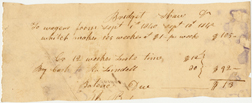 Image of Record of wages accrued by enslaved person, Bridgette, for Henry Shaw.