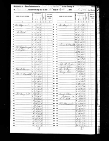Image of United States Census record for 1850 showing Henry Shaw's ownership of nine enslaved people.