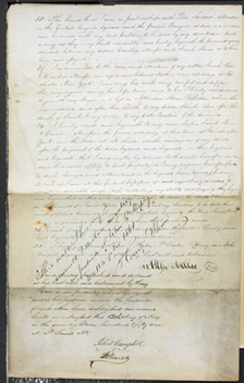 Image of Page four of Henry Shaw's voided will from May 12, 1851. The will was voided on November 18, 1861.