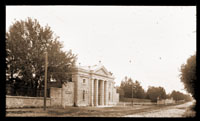 Image of View of the original Main Gate and Tower Grove Avenue.  View is to the north.