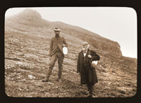 Image of Frederick Coville (left) & William Brewer (right) in Alaska. Harriman Alaska Expedition, 1899.  Print available at PHO 2007-0183.  Negative available at PHO 2007-0184.