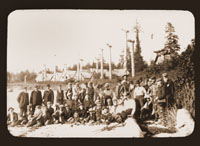 Image of Group portrait of the Harriman Party at Cape Fox Village.