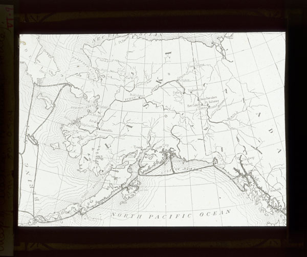 Image of Map of Alaska (Harriman route).  Harriman Alaska Expedition, 1899.  Print available at PHO 2007-0187.  Negative available at PHO 2007-0188.
