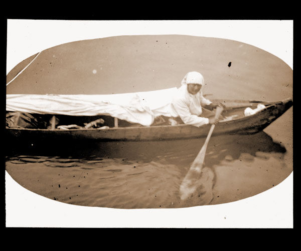 Image of Seal hunter in Glacier Bay.  Harriman Alaska Expedition, 1899.
