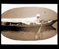 Image of Seal hunter in Glacier Bay.  Harriman Alaska Expedition, 1899.