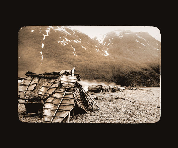 Image of Sealer's hut in Yakutat Bay.  Harriman Alaska Expedition, 1899.  Curtis, photographer.