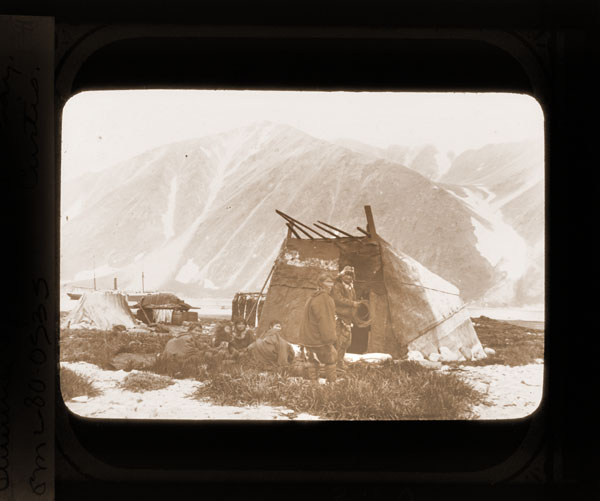 Image of Summer topak,  Plover Bay.  Harriman Alaska Expedition, 1899.  Curtis, photographer.