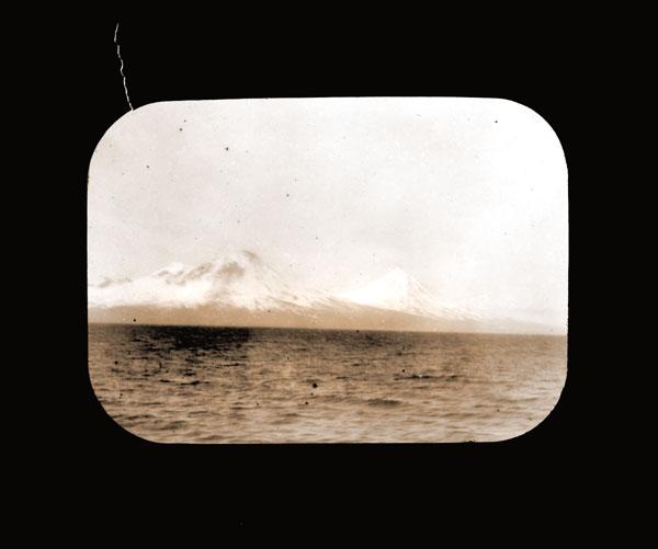 Image of Mount Pavlof, Alaska.  Harriman Alaska Expedition, 1899.