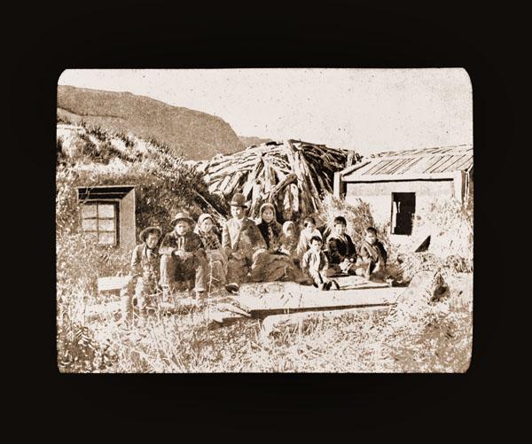 Image of Barabara, Kodiak. Harriman Alaska Expedition, 1899.