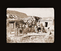 Image of Barabara, Kodiak. Harriman Alaska Expedition, 1899.
