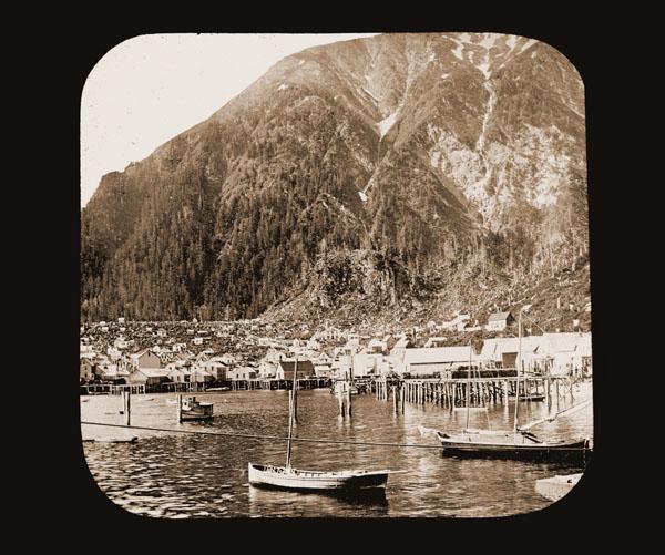 Image of Juneau, Alaska from the bay.  Harriman Alaska Expedition, 1899.