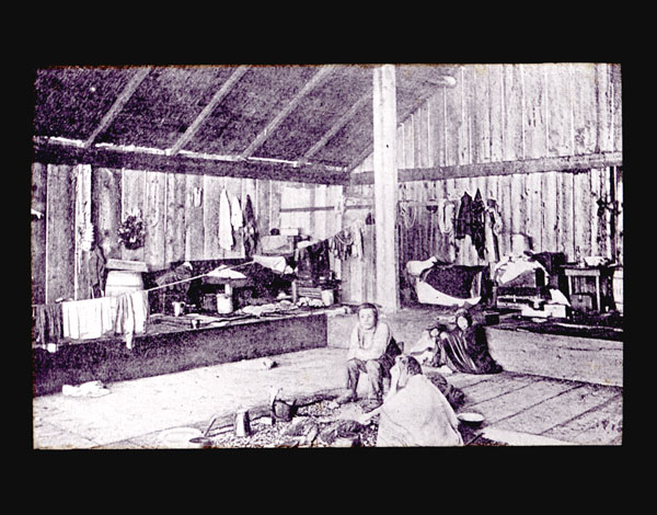 Image of Interior of Alaskan house.  Harriman Alaska Expedition, 1899.