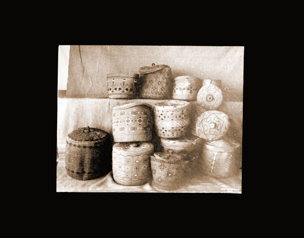 Image of Alaskan baskets.  Harriman Alaska Expedition, 1899.
