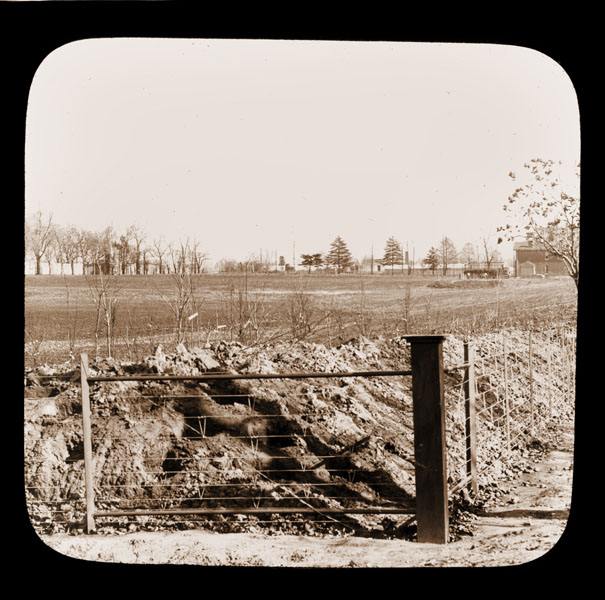 Image of View of the North American tract before planted.  View form the corner of Alfred & Magnolia looking east.  This is now where the Japanese Garden is located.