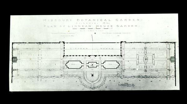 Image of Plan of Linnaean Garden.