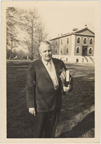 Image of Missouri Botanical Garden. Dr. Edgar Anderson, Director. Mid-1950's. The old Museum in background.