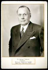 Image of Sepia slide of George T. Moore, Director of the Missouri Botanical Garden (1912-1953).